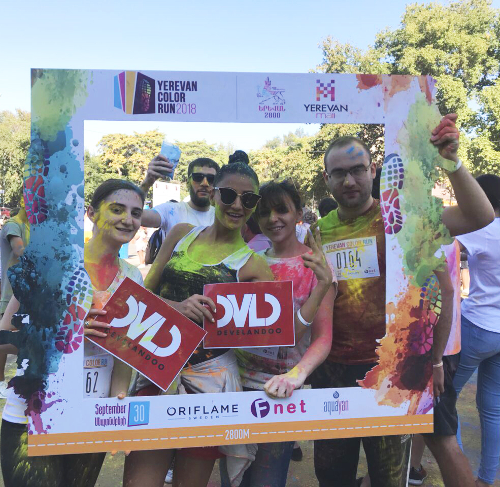 High Mood ON: Develandoo Team Rocked at Yerevan Color Run 2018