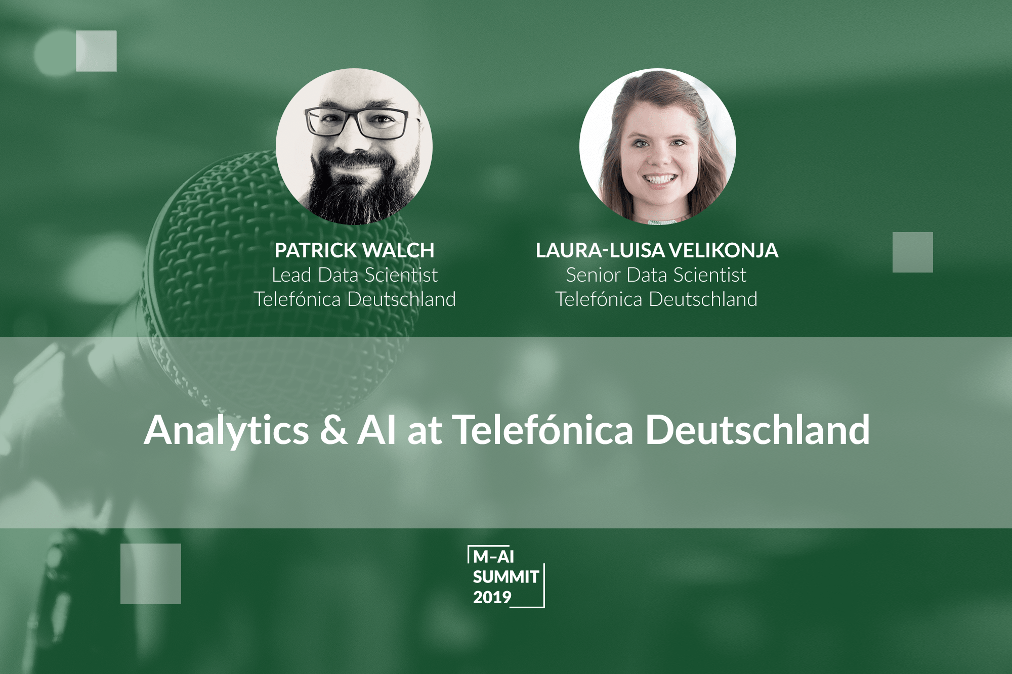 Munich AI Summit 2019. Telefónica Deutschland Team Shares Their Experience of Using AI & Analytics