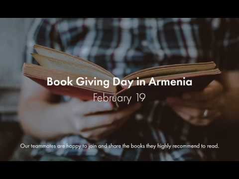 It's February 19. Armenia Celebrates Book Giving Day.